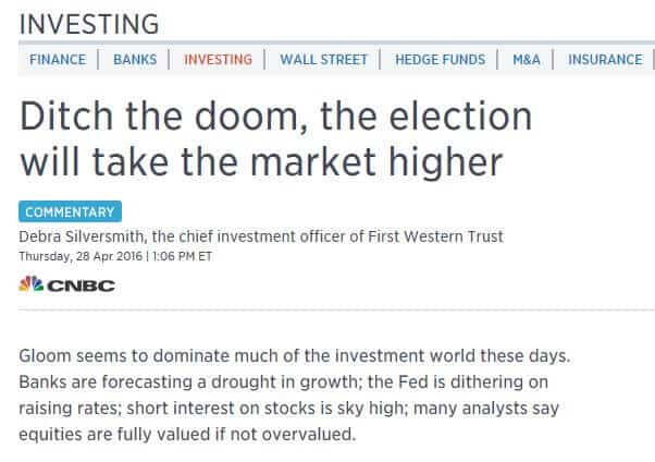 Screenshot of article titled: Ditch the doom