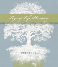 Legacy Life planning workbook cover with tree graphic