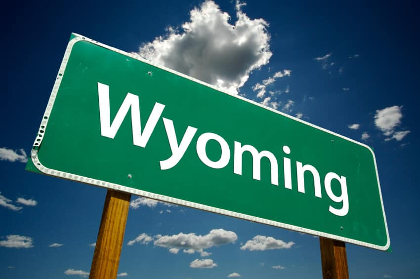 Wyoming road sign