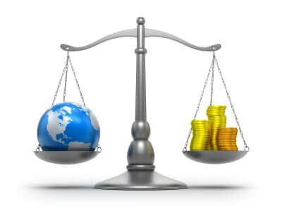 Earth and money scale