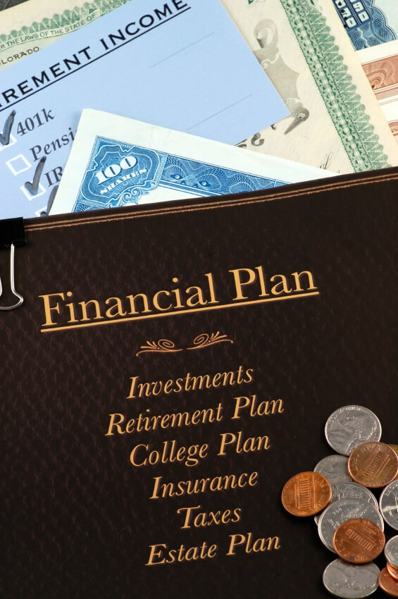 Financial plan with money